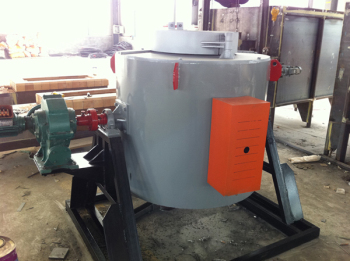 可傾斜式井式爐